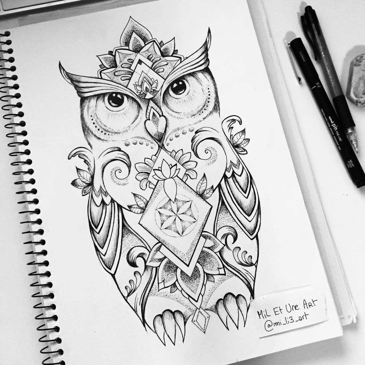 Owl Tattoo Design On Behance