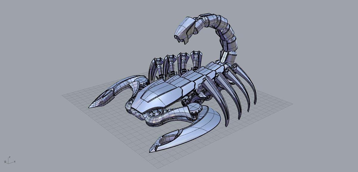 mech scorpion robot scorpion 3d scorpion