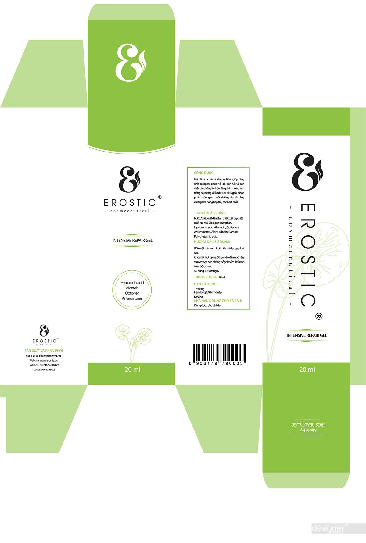 Thiết kế vỏ hộp Erostic