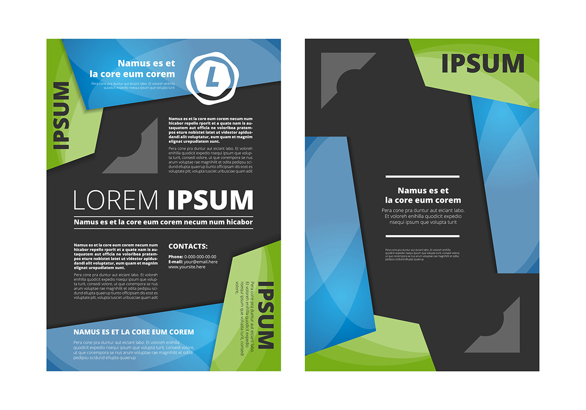 leaflet tri fold brochures design on behance