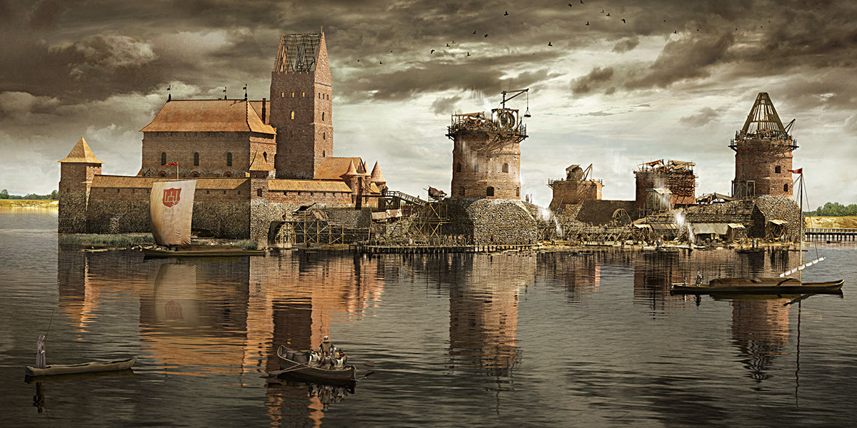 cc2302e431 Historical castle reconstruction on Behance