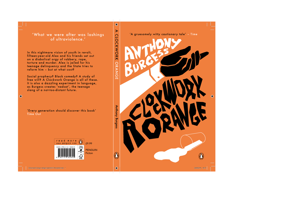 Book Cover Competition : Penguin book cover competition a clockwork orange on
