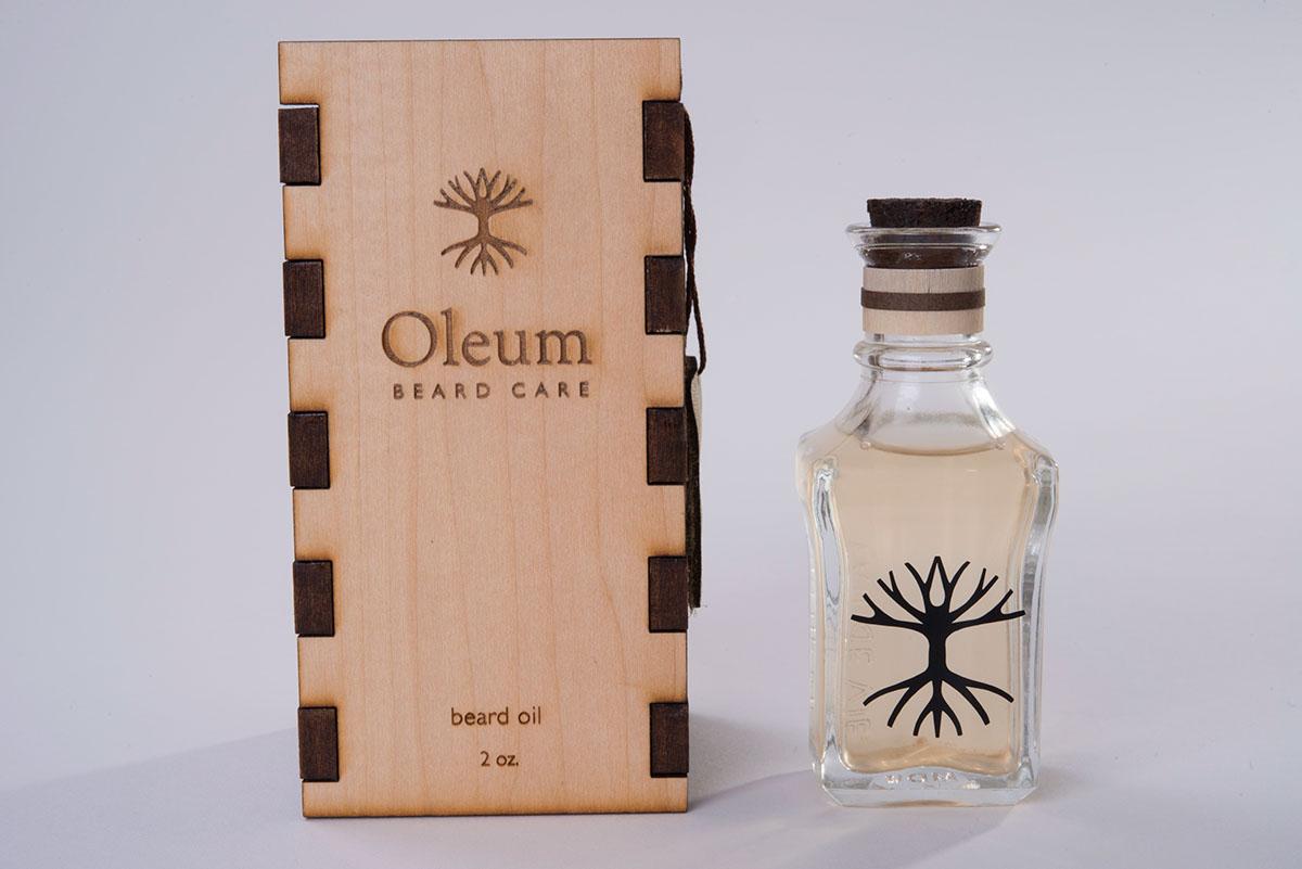 health products lazor engraved wood packaging beard oil vinyl sticker Logo Design Brand Design re-brand