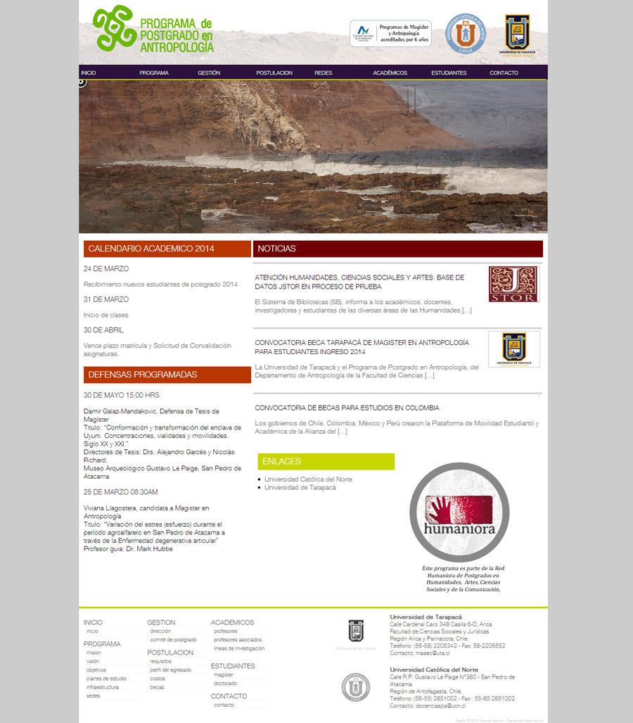 antropologia UTA wordpress UCN PHP5 Webdesign