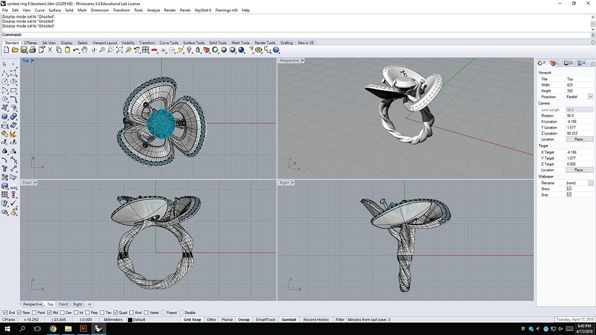 Rhino Modeling - Render on SCAD Portfolios