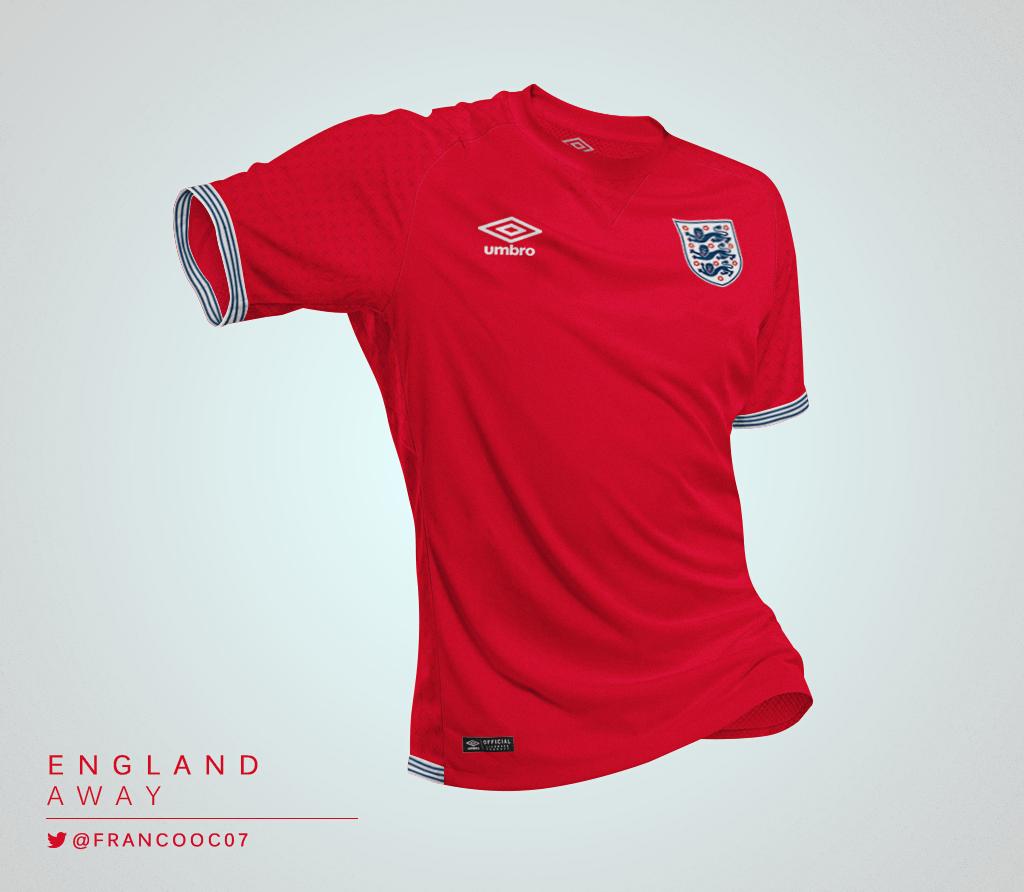 Talisman & Co. | Umbro England Away Kit Concept by Franco Carabajal | Soccer Hats
