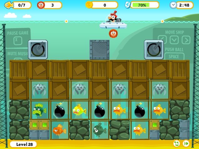 Flash game Fishenoid II