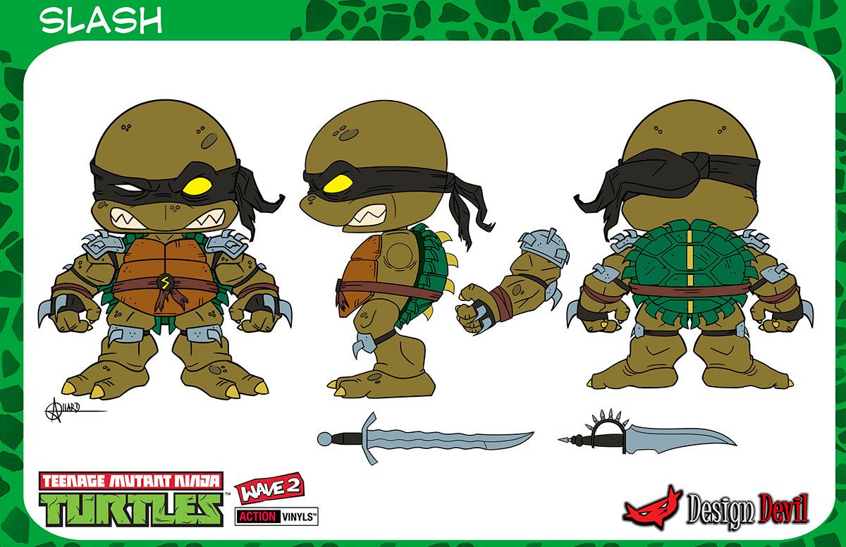 Teenage Mutant Ninja Turtles Mini Figures On Behance