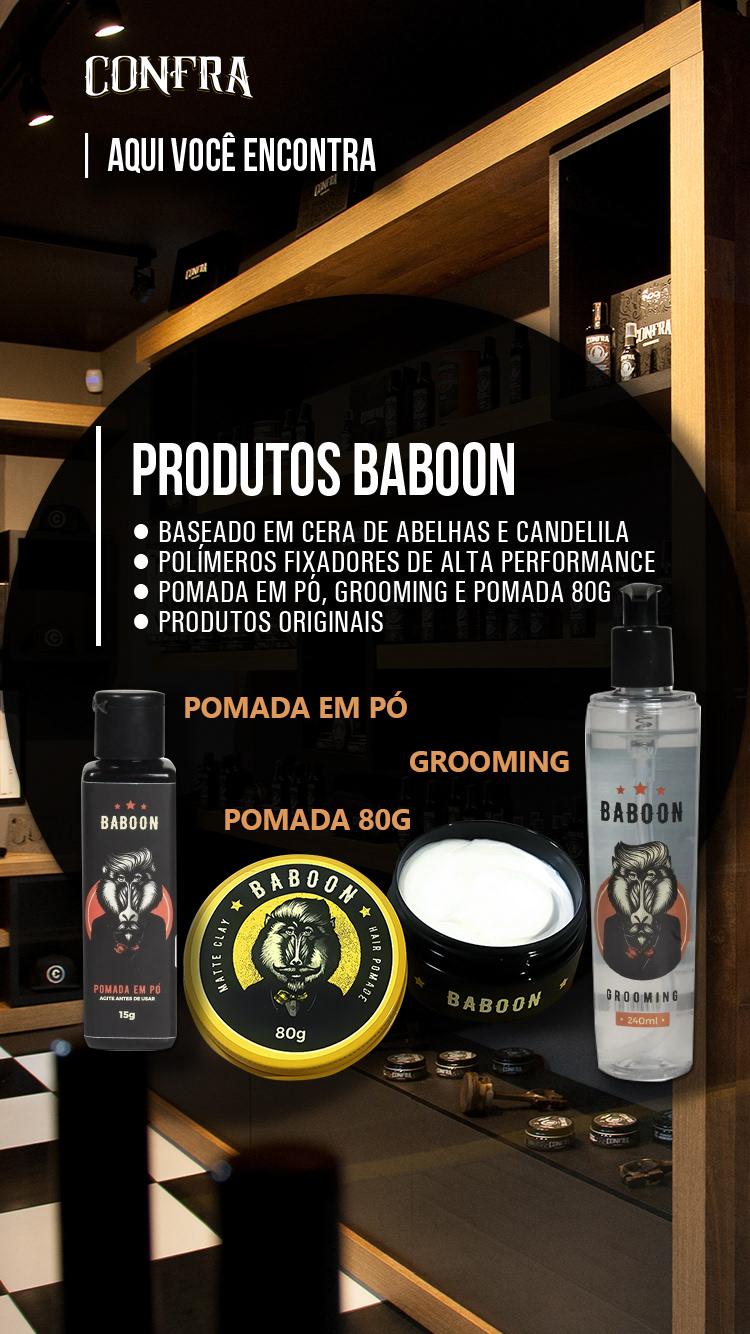 Baboon cavalera CONFRA foxidil grooming layrite pomada modeladora