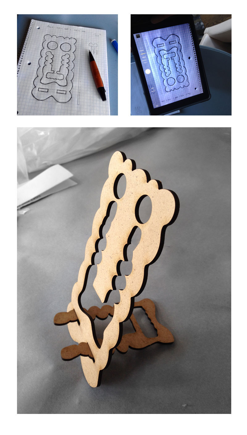 Fabulous Laser Cut Easels / Phone Charging Holder on Behance NS07