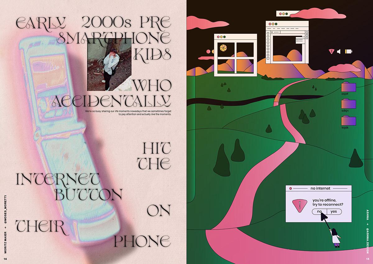 Collaboration discord elliotisacoolguy indie zine Internet offline online stickers typehaus Zine