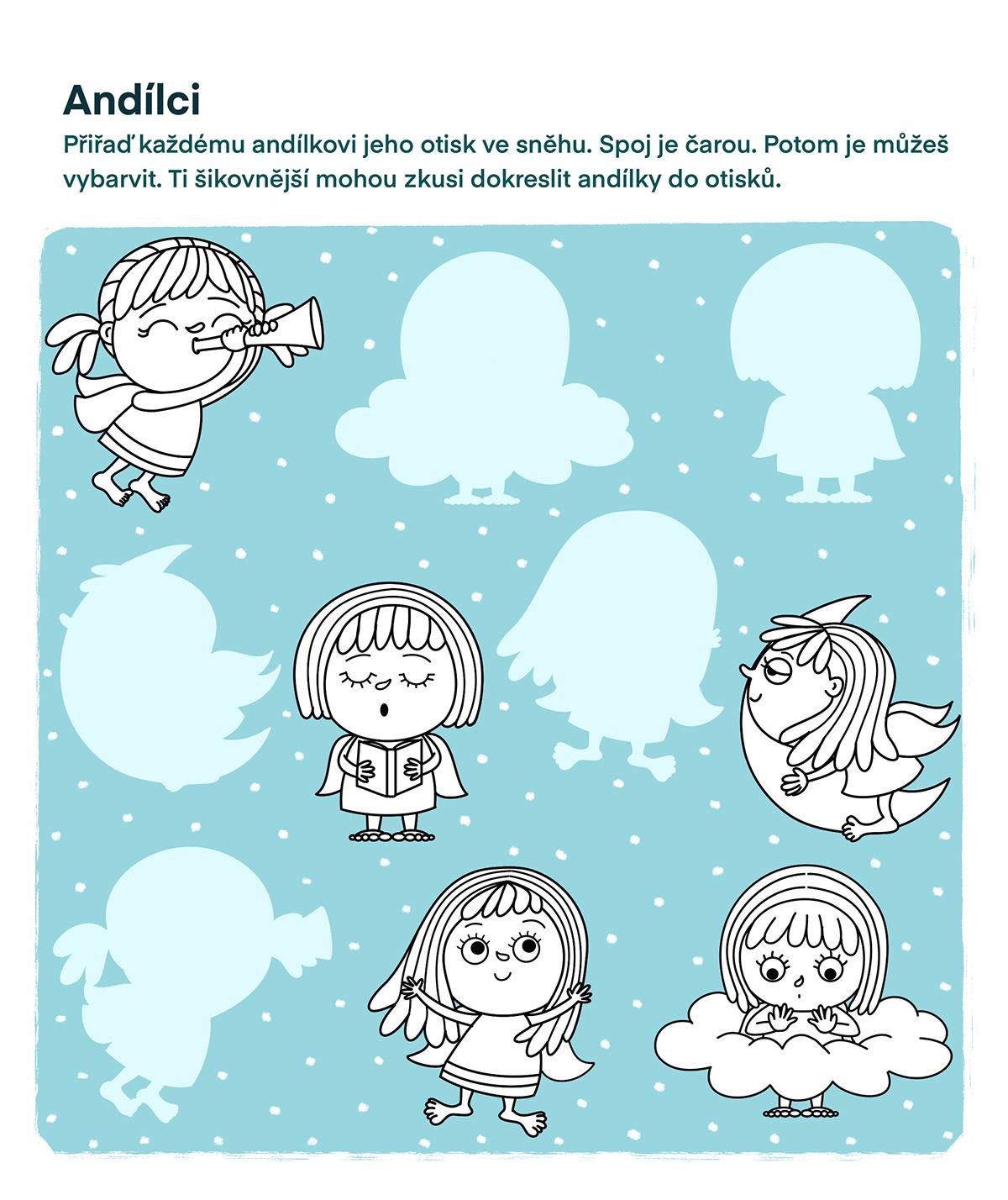 Andílci angel angels children Christmas vanoce