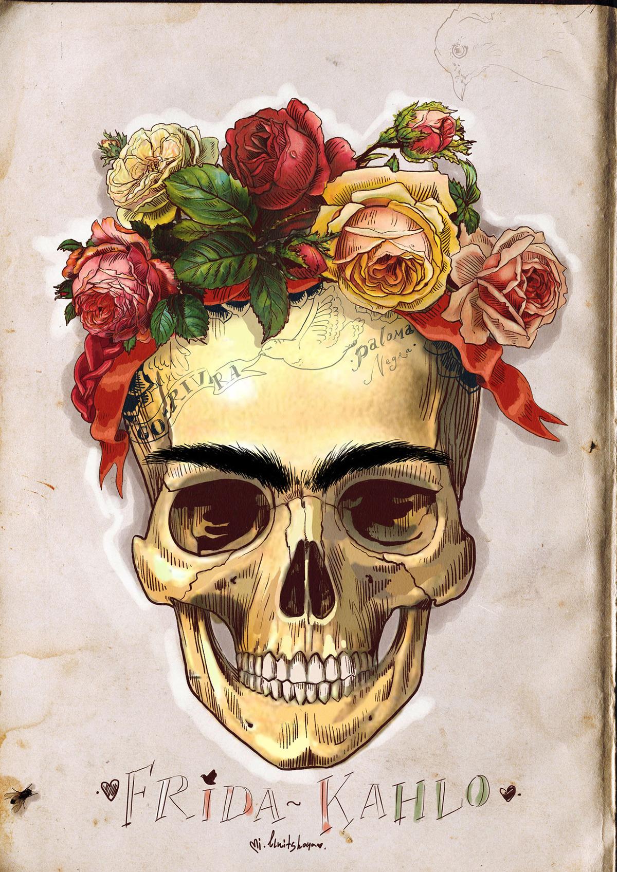 Skulls of famous Artists on Behance