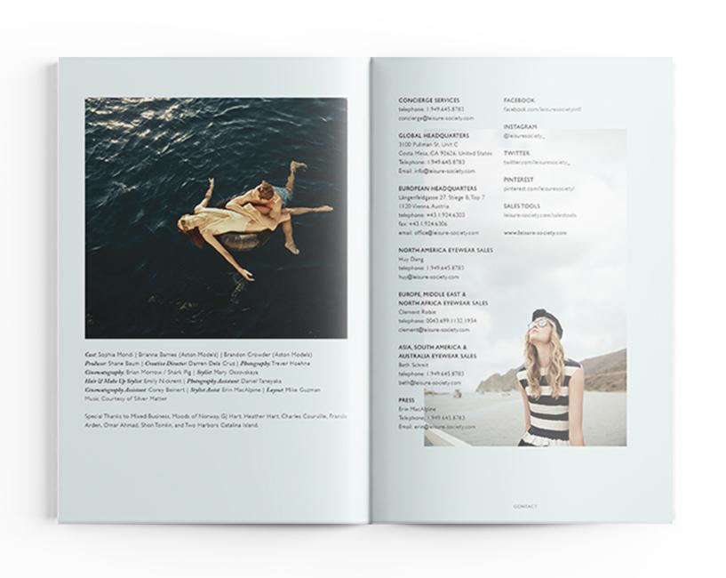 eyewear luxury Lookbook brochure graphic design  print design  Layout Design typography