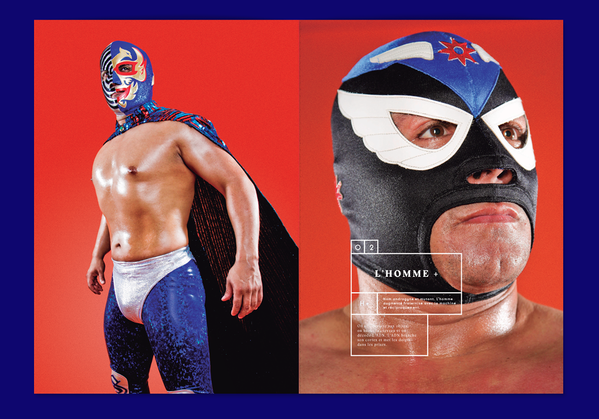 Daniel Chavira Violaine & Jeremy lucha libre mexico red type font typography   editorial