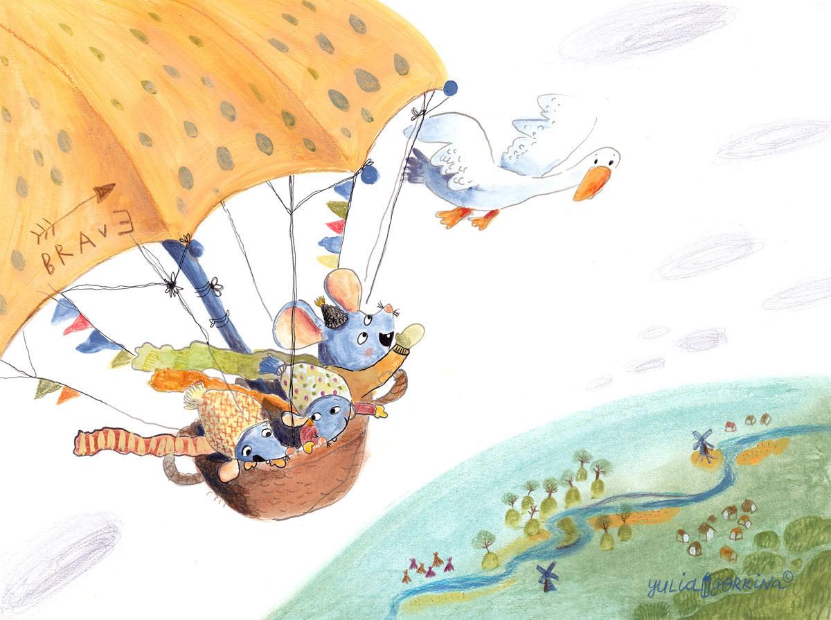 Image may contain: umbrella, cartoon and map