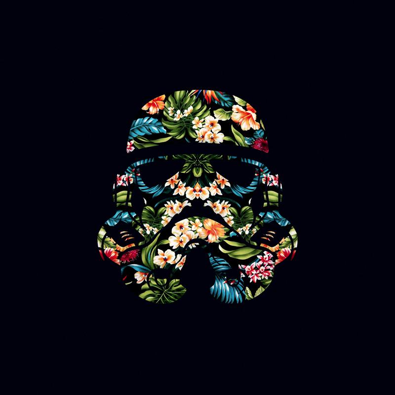 star wars stormtrooper HAWAII Helmet ILLUSTRATION  fancy nerd