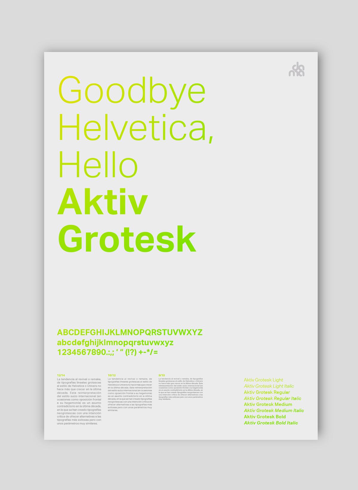 Aktiv grotesk family Font Rar Size