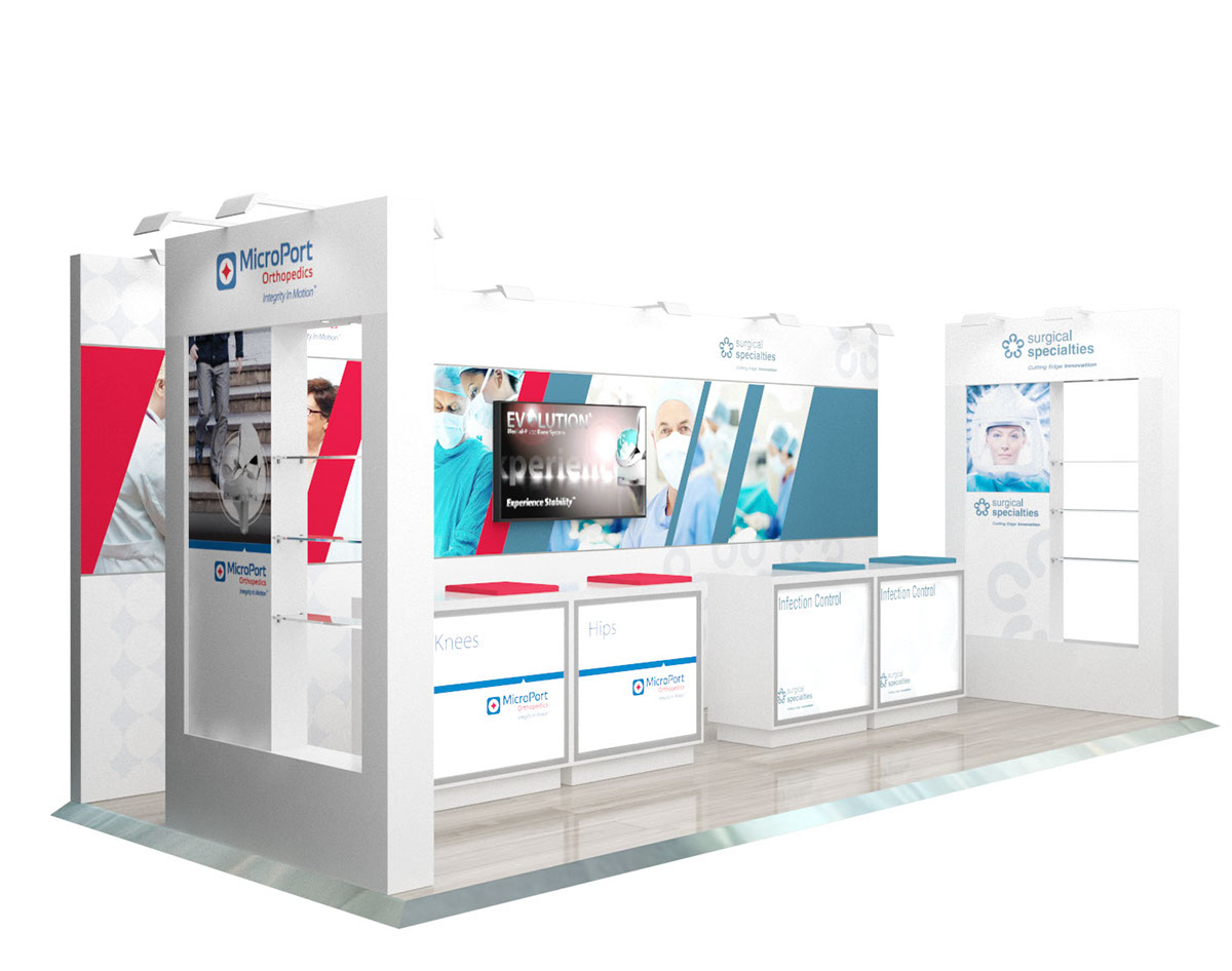 Exhibition Booth Graphics : Microport medical tradeshow booth graphics on behance