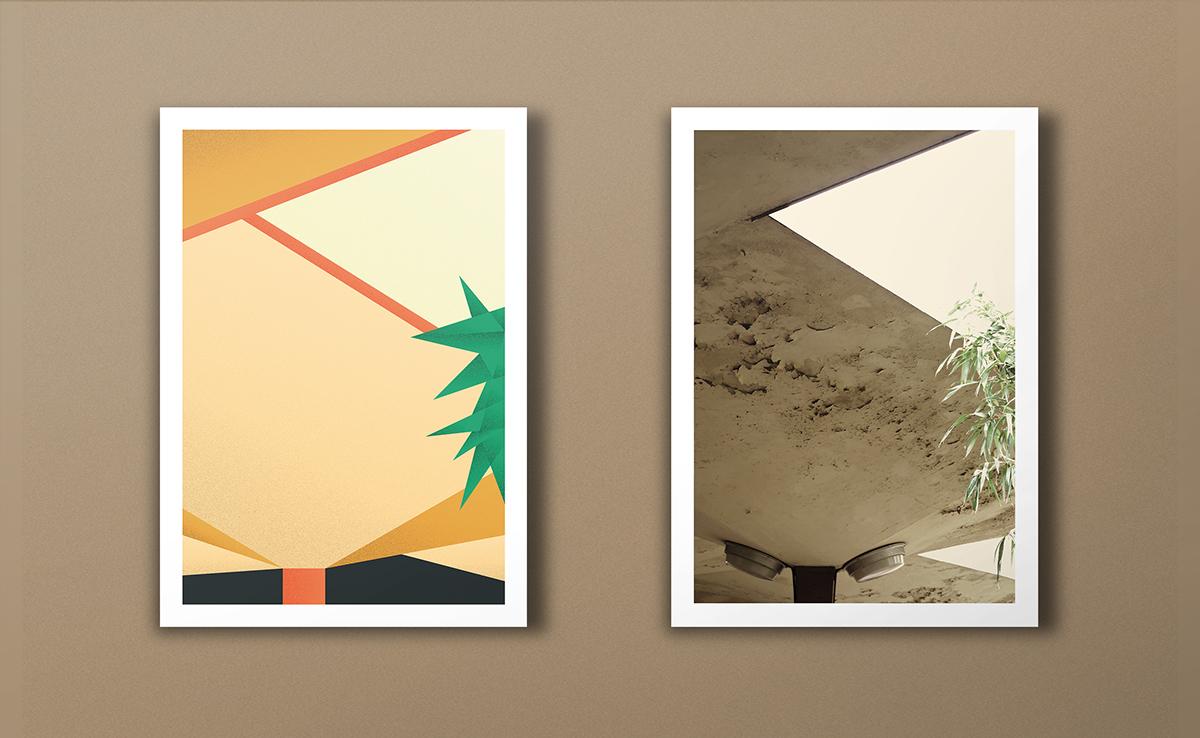 geometric composition architectural illustration minimal print geometric illustration minimal illustration flat Building Illustration