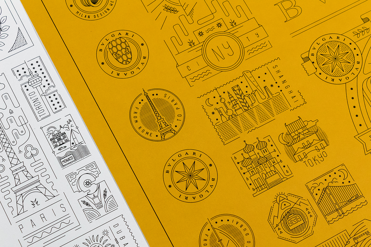 line ILLUSTRATION  vector crafted minimal geometric clean intricate icons Travel