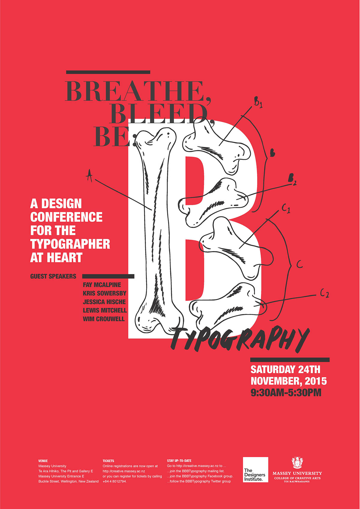 Breathe, Bleed, Be: Typography Conference on Behance