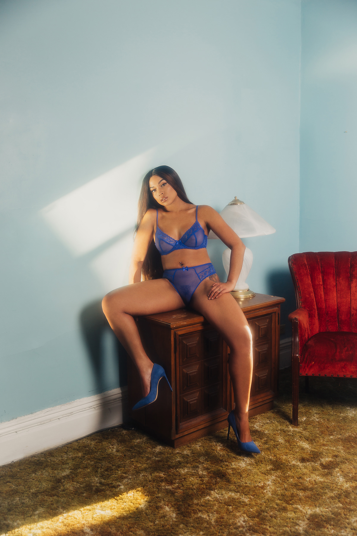 artist editorial lingerie musician New York photoshoot princess nokia savage fenty