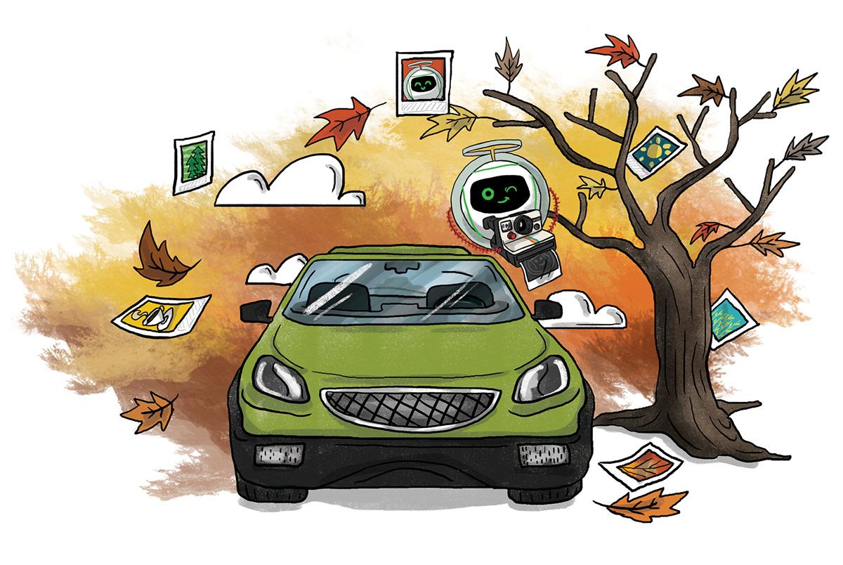 garanti Bank calendar UGI new year takvim marka illustrasyon çizim brand