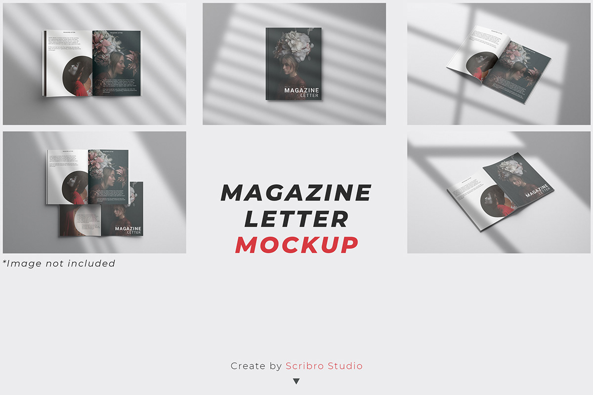 a4 download free download free letter Free magazine letter magazine Mockup