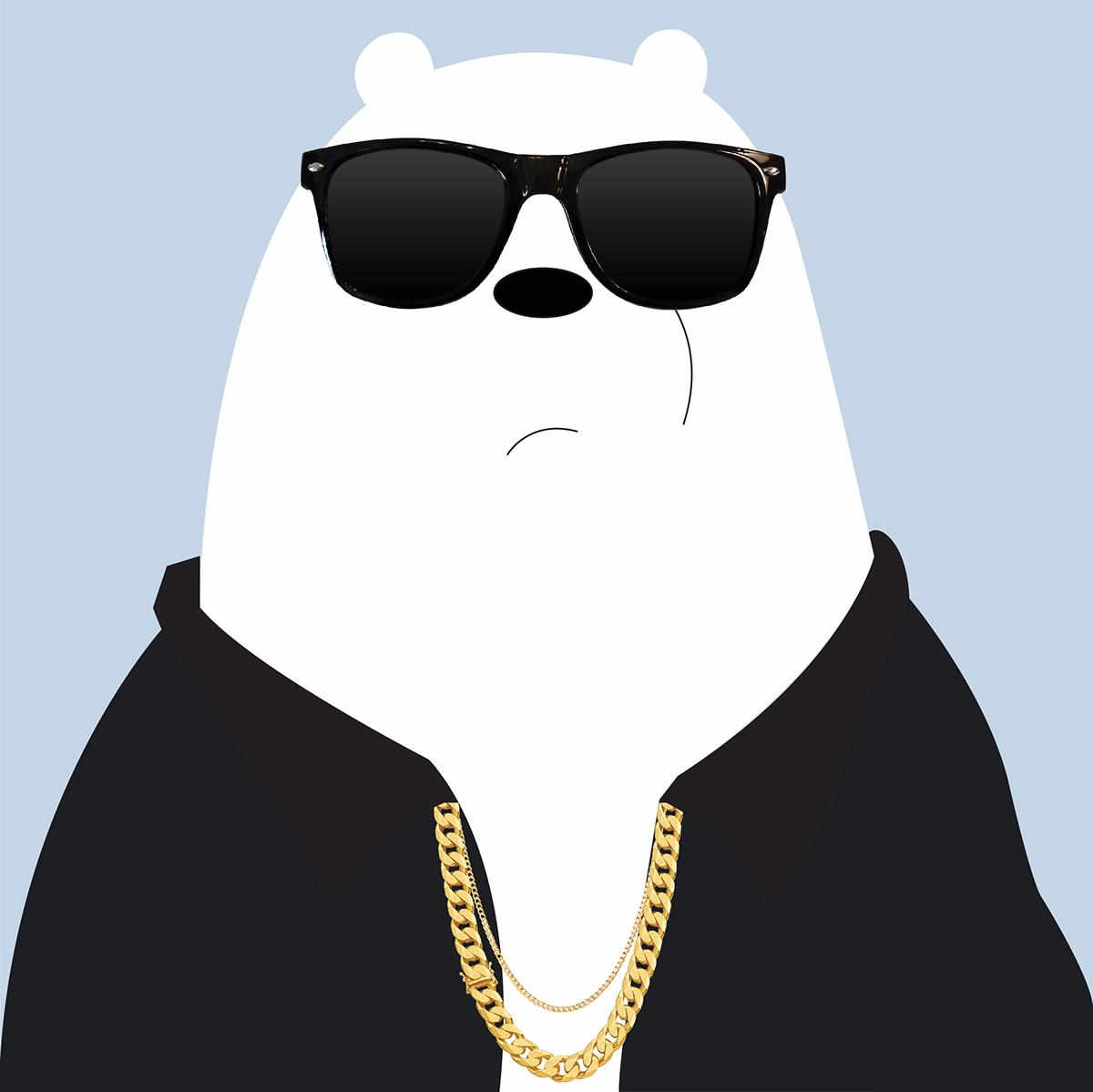 bts suga x we bare bears ice bear on behance