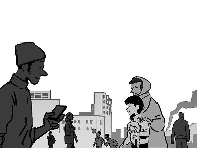 War life yellow child magazine city