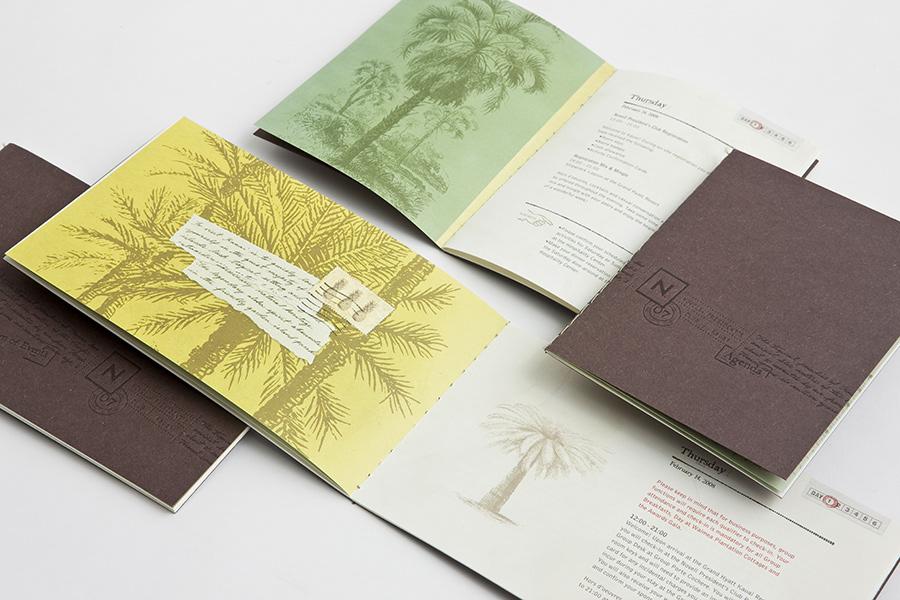 Event Event Branding Novell Book Binding saddle sewn binding Kauai HAWAII Calligraphy