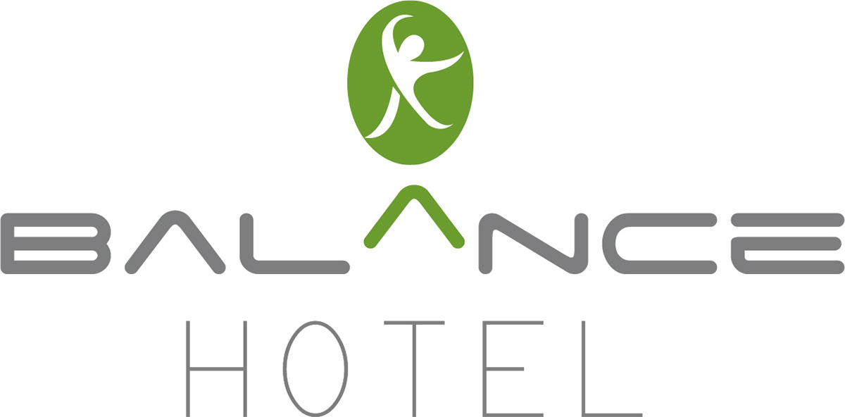 balance design graphic green hotel logo ontwerp