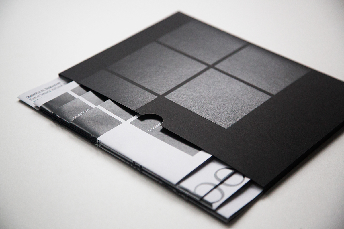 Layout format the bigger picture Bookbinding spot varnish sleeve black and white
