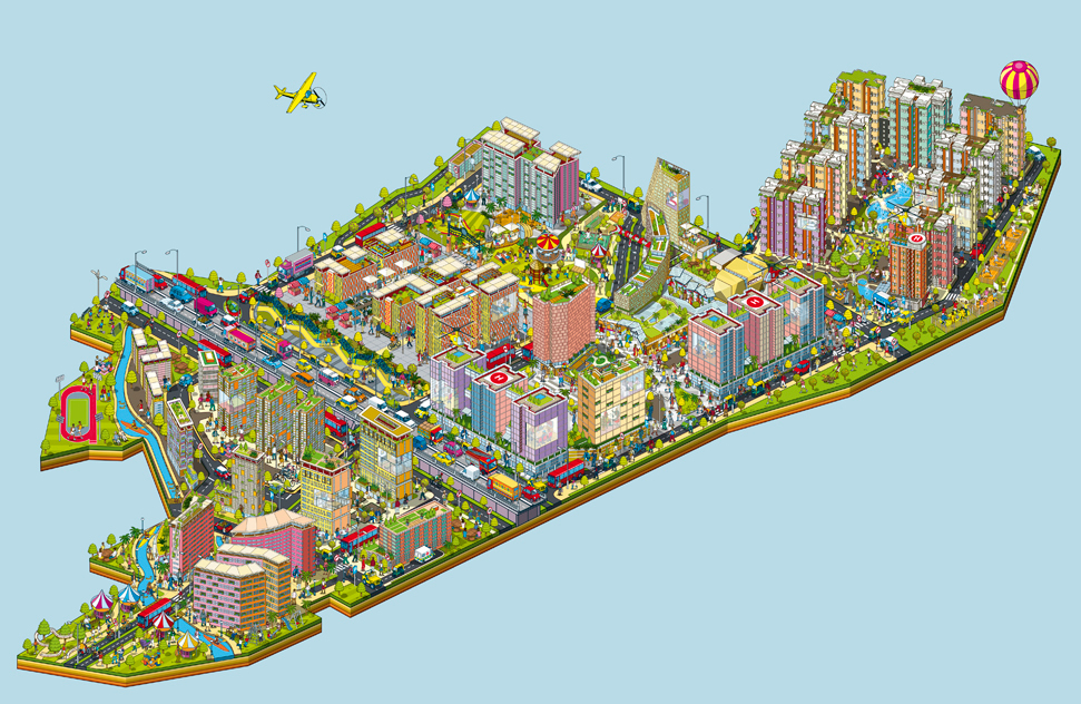 bhartiya city city of joy advertising campaign map on behance city of joy advertising campaign map
