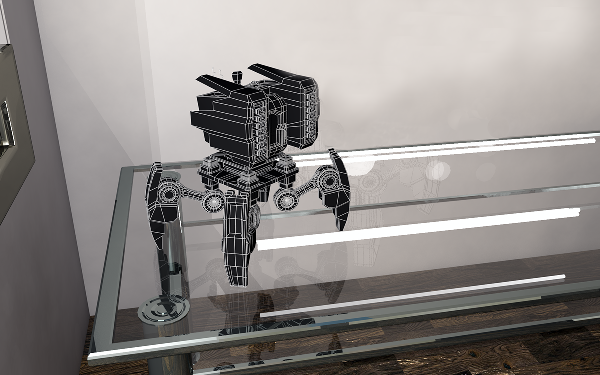 robot toy design room student 3ds max 3D