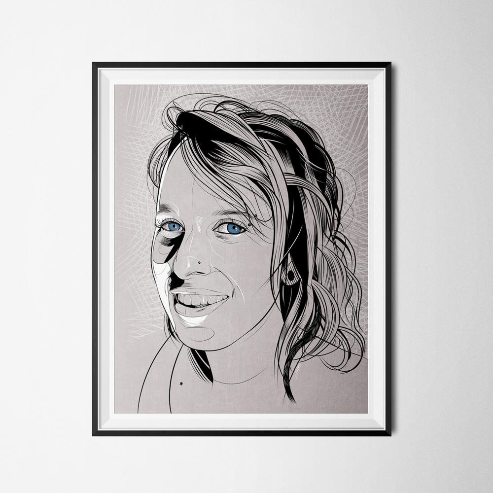 art  comic  portrait ink inking