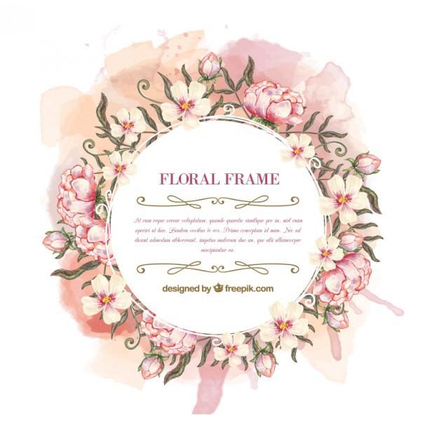 Free Vector Floral Frames on Behance