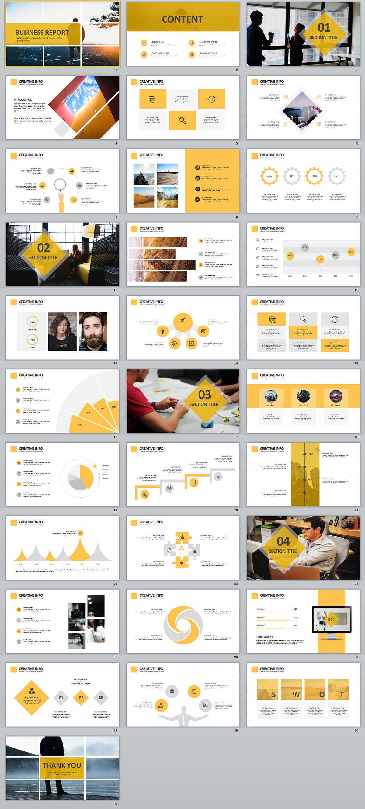 31 best yellow business report powerpoint template on behance toneelgroepblik Gallery