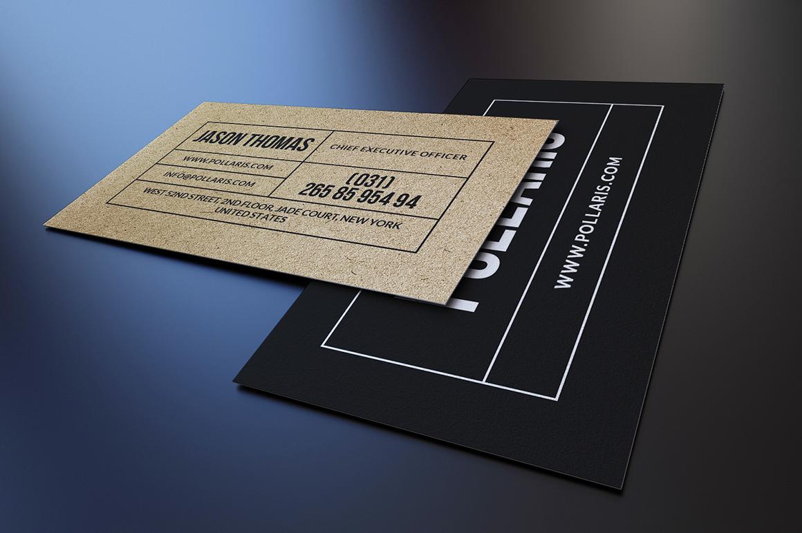 kraft paper business cards bundle on behance