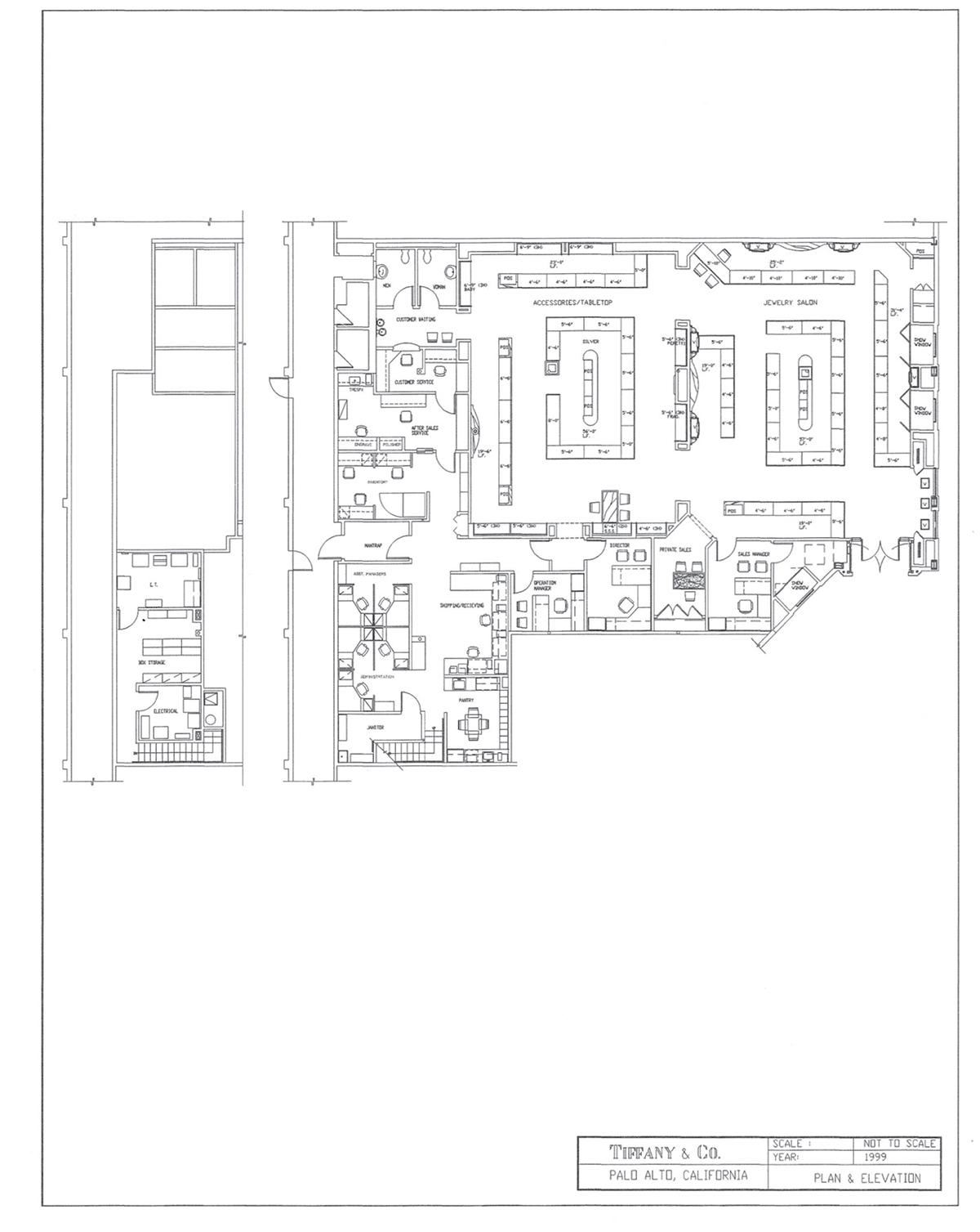Floorplan Drawings For The Tiffany U0026 Co. Store In The Stanford Shopping  Center In Palo Alto, California.