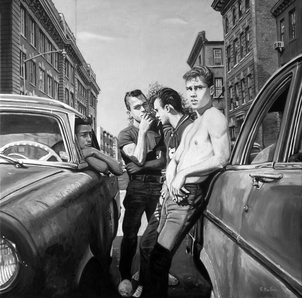 Image result for vintage photos of young boys and girls on the street in nyc 1950s