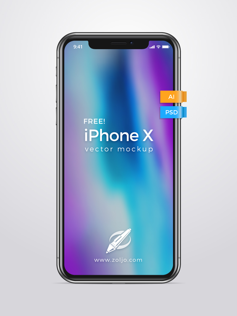 Iphone x free vector mockup template on behance download free iphone x vector mockup here maxwellsz