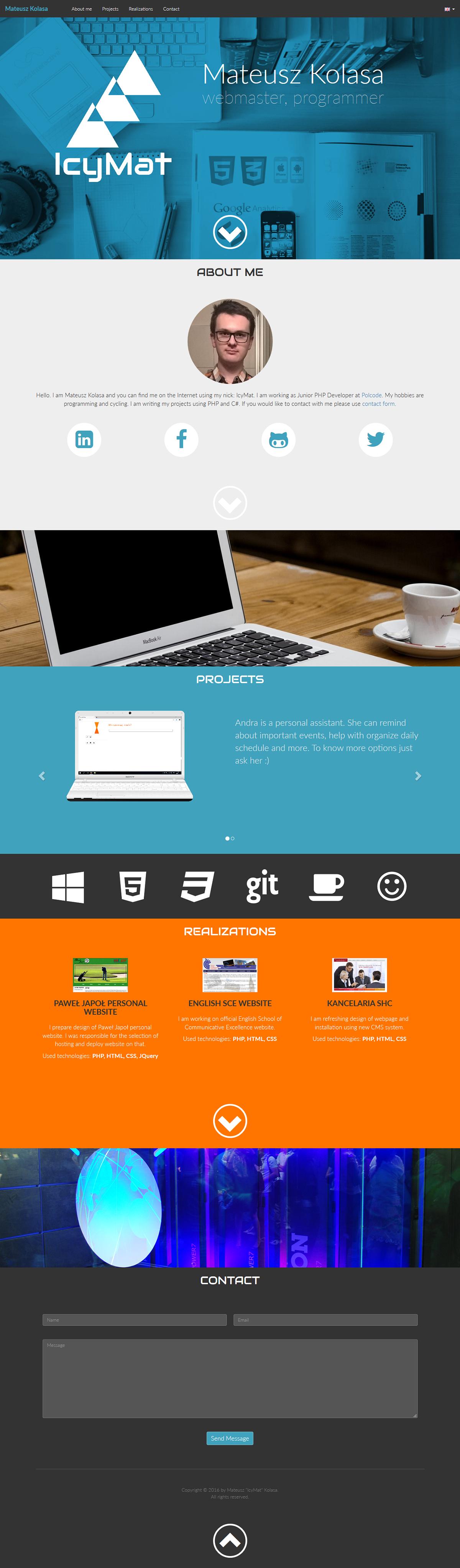 Website personal branding Webdesign Web onepage