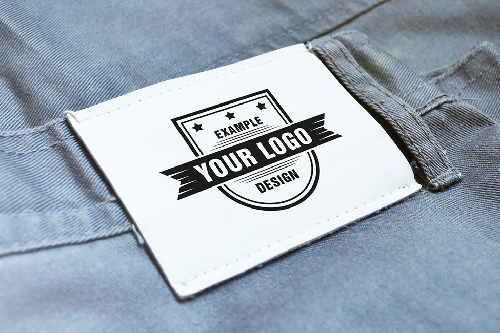 Logo Mockup Clothing Jeans Label PSD Template on Behance