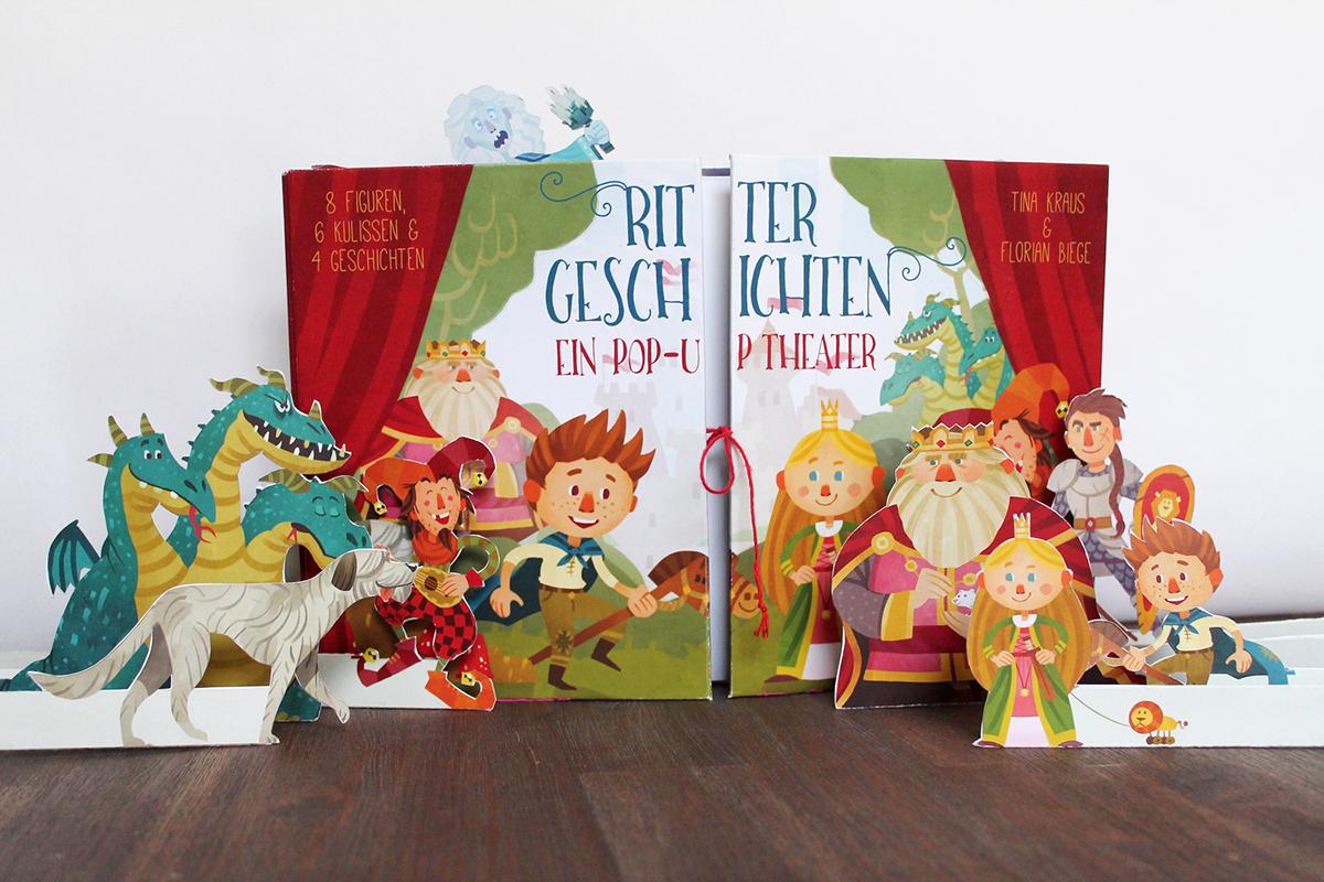 pop-up paperengineering paper art ILLUSTRATION  children's book fairytale Theatre interactive book play Character design
