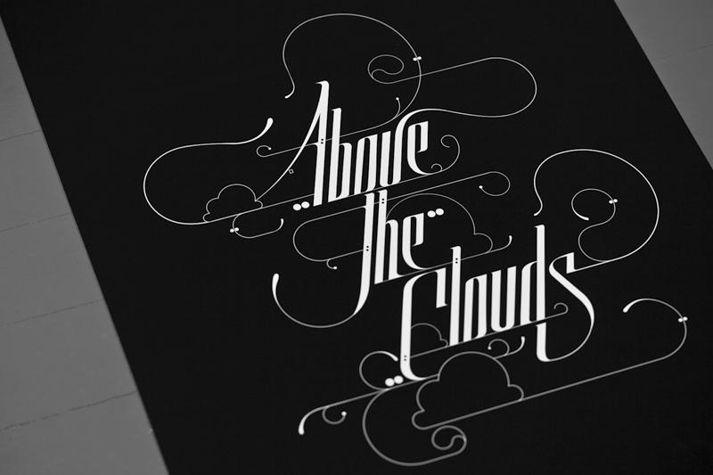 David Mascha prints songs black & white olschinksy type