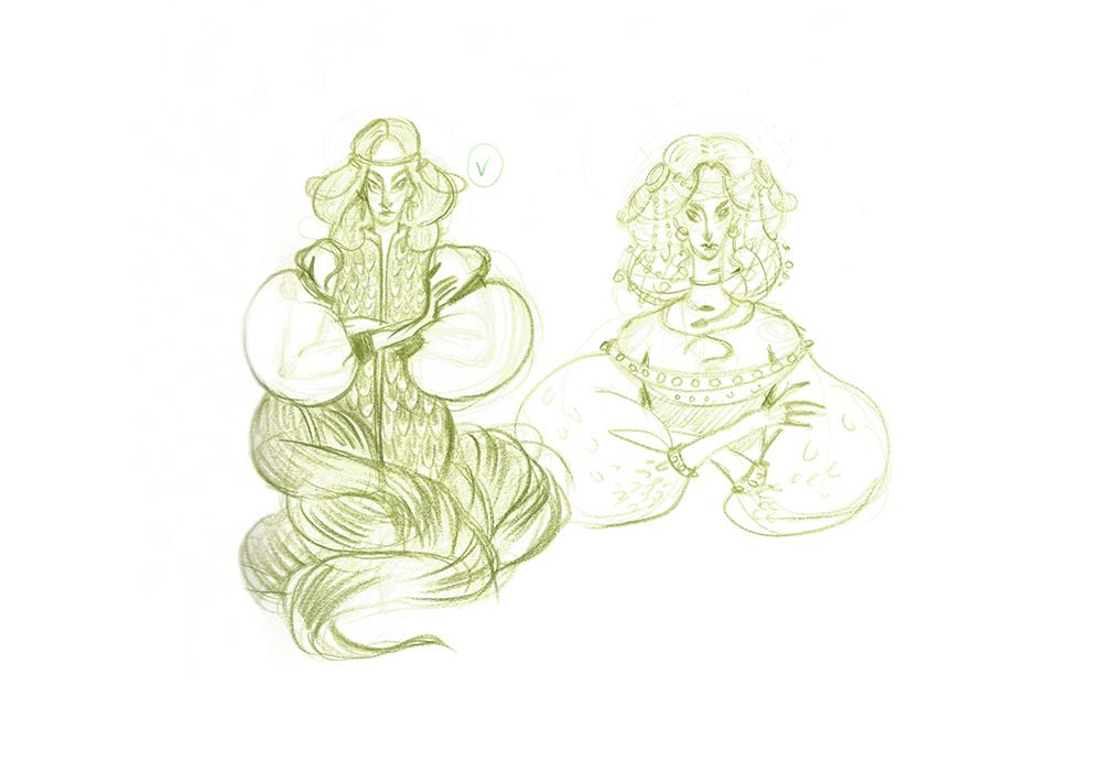 fairy tale malachite animation  Digital Art  ILLUSTRATION  Character