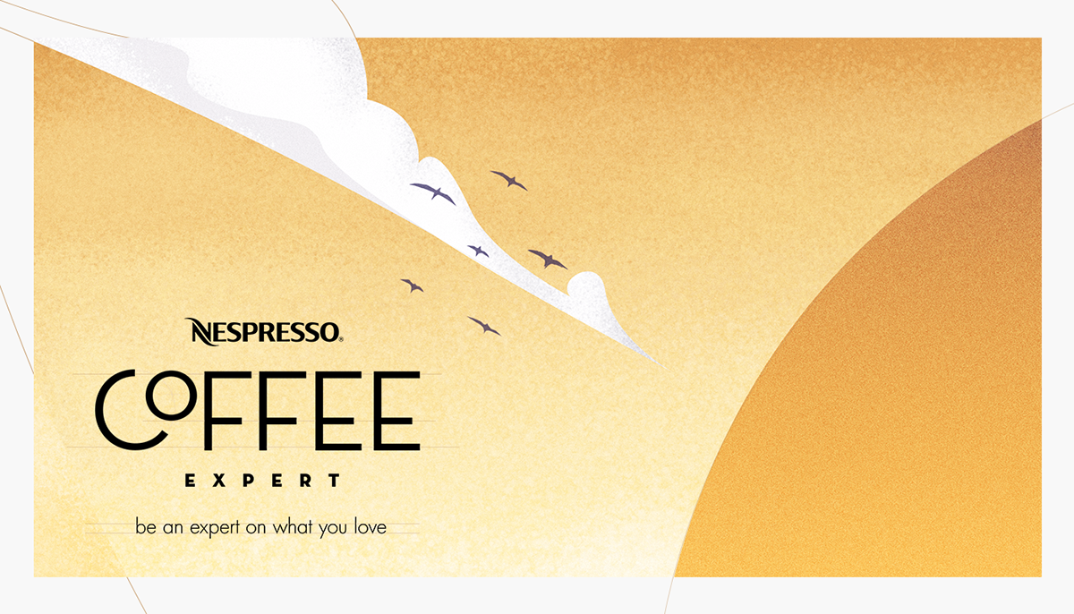 Website campaign ILLUSTRATION  Coffee Nespresso expert espresso cafe Brazil