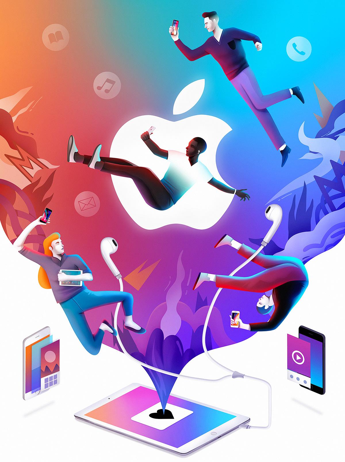 brand design apple Netflix creative ILLUSTRATION  editorial magazine inspiration adobe